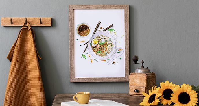 Plakat do kuchni z rybą