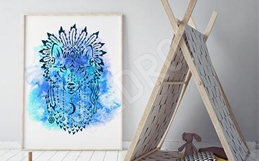 Plakat zwierzę abstrakcja