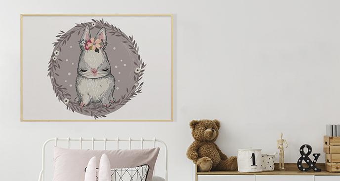 Plakat zwierzę do pokoju dziecka