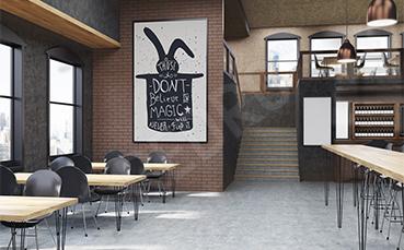 Plakat zwierzę do restauracji