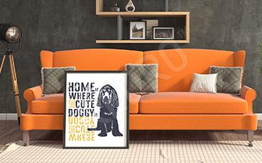 Plakat zwierzę nowoczesny styl