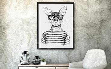 Plakat zwierzęta do pokoju nastolatka