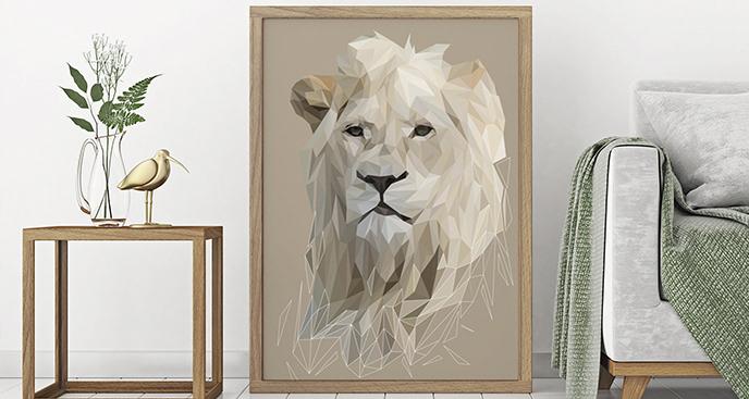 Plakat zwierzęta: lew