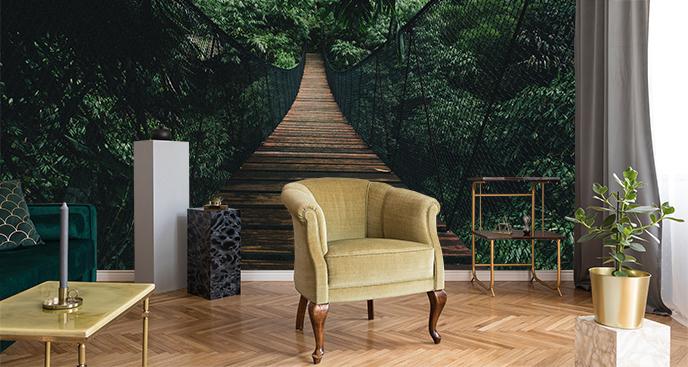 Przestrzenna fototapeta z dżunglą