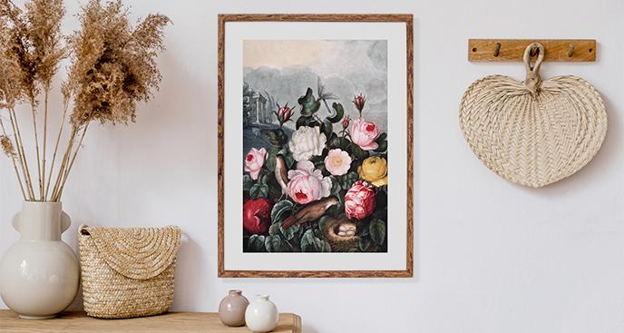 Retro kwiaty