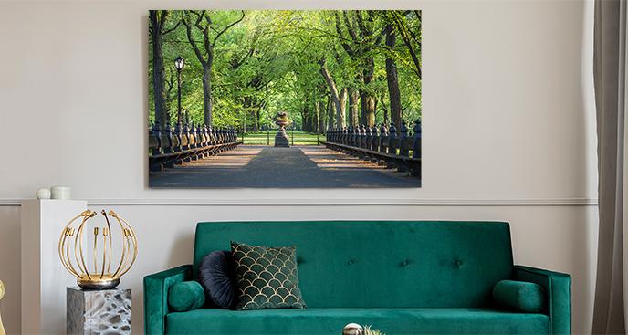 Romantyczny obraz z mostem