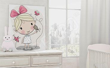 Rysunkowy obraz do pokoju dziewczynki