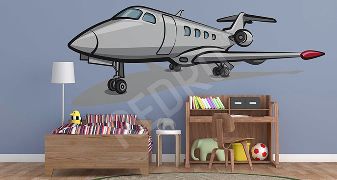 Ścienna naklejka z samolotem