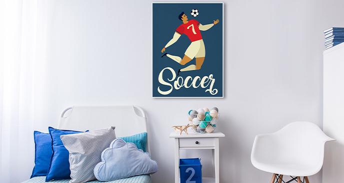 Sportowy plakat do pokoju dziecka