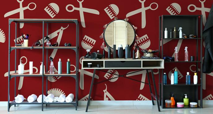 Stylowa fototapeta do salonu fryzjerskiego