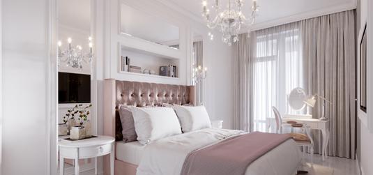 Sypialnia w stylu glamour – pomysł na królewską aranżację