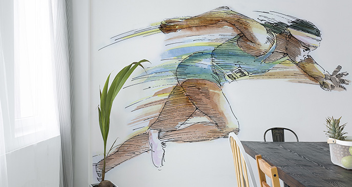 Tapeta bieganie: wyścig sprinterski