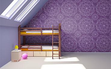 Tapeta dla dzieci z ornamentem