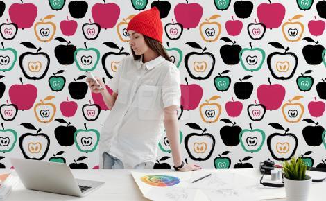 Tapeta jabłuszka do biura