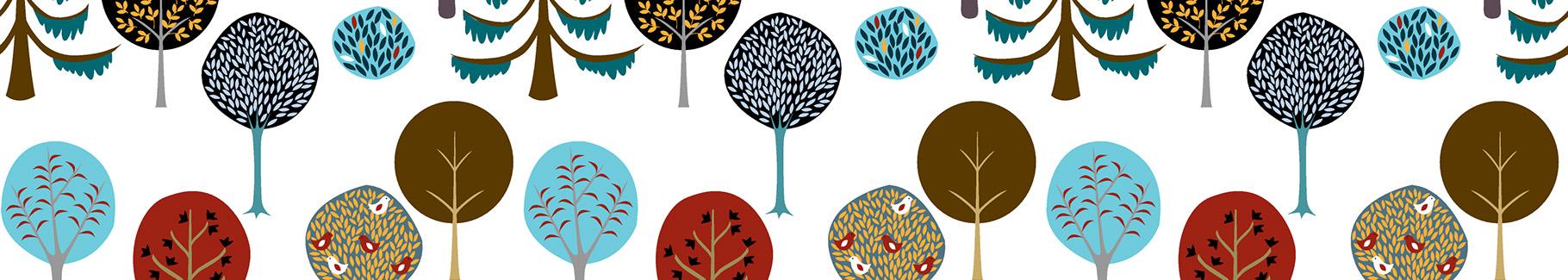 Tapeta jesienne drzewa