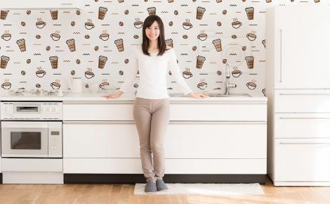 Tapeta kawowy motyw do kuchni