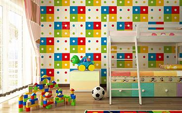 Tapeta kolorowe kropki - dla dzieci