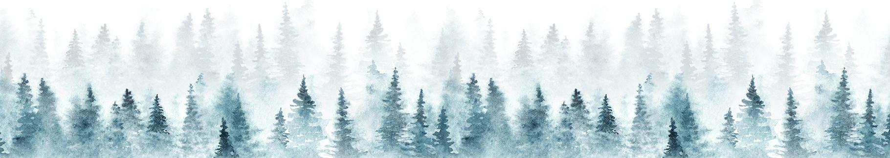 Tapeta zimowy las