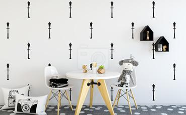 Tapeta latarnie w stylu minimal
