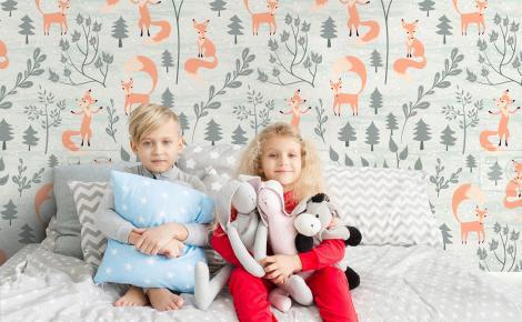 Tapeta lisy do pokoju dziecięcego
