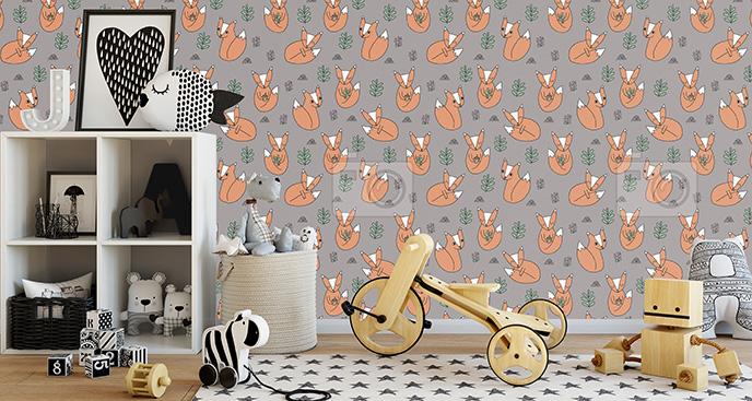 Tapeta lisy w pokoju dziecięcym