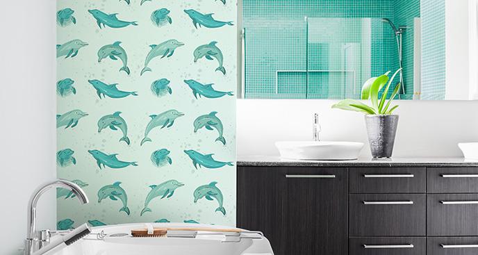 Tapeta malowane delfiny