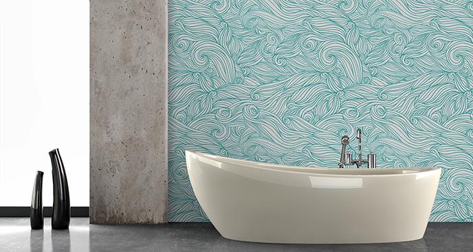 Tapeta motyw wody w łazience