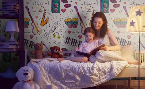 Tapeta muzyczna do pokoju dziecięcego