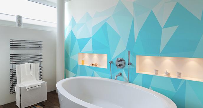 Tapeta nowoczesny motyw do łazienki