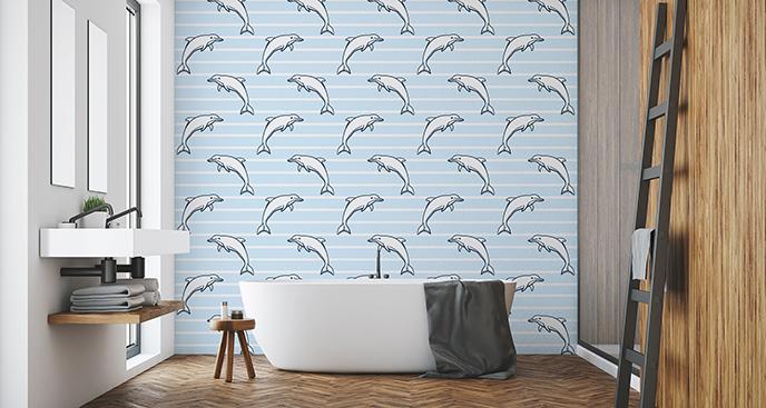 Tapeta paski i delfiny