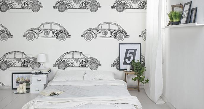 Tapeta pojazdy czarno-białe