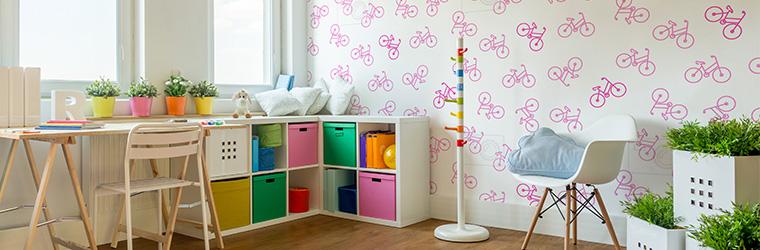 Tapeta różowe rowery
