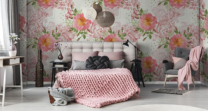 Tapeta różyczki do sypialni