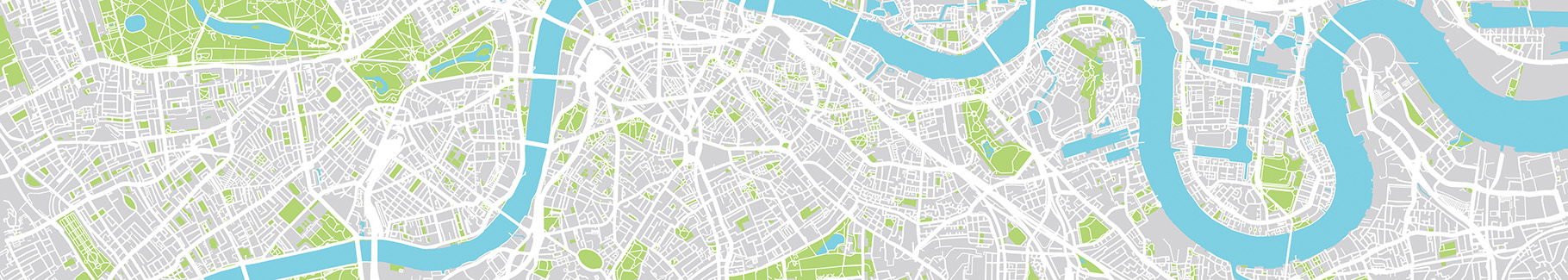 Tapeta rzeka na mapie miasta