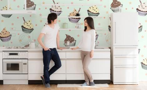 Tapeta słodycze do nowoczesnej kuchni