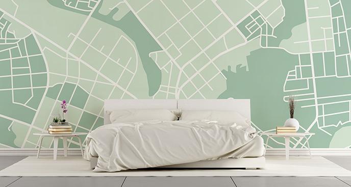 Tapeta ulice na mapie miasta