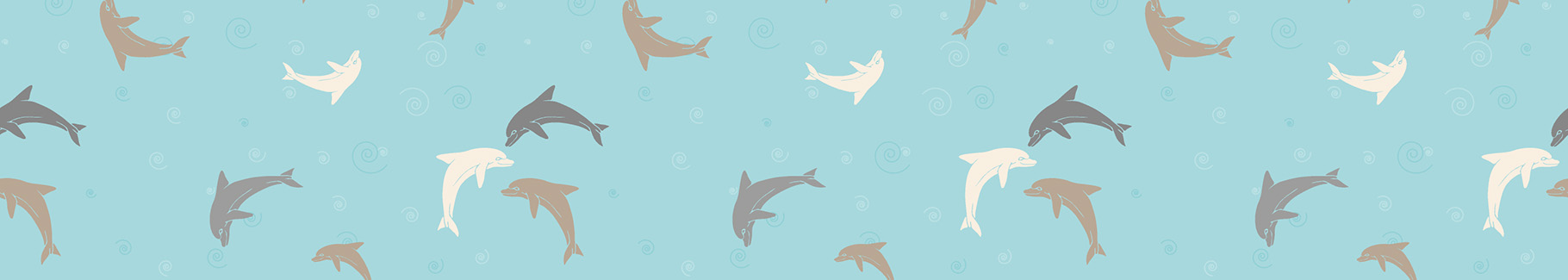 Tapeta vintage z motywem delfinów
