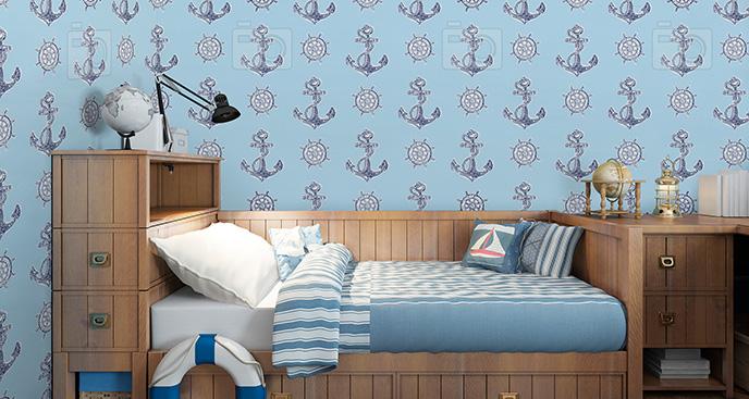 Tapeta w stylu marynarskim dla dzieci