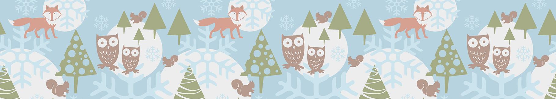 Tapeta zimowy krajobraz dla dzieci
