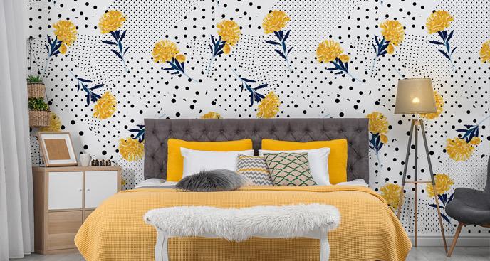 Tapeta żółte kwiaty