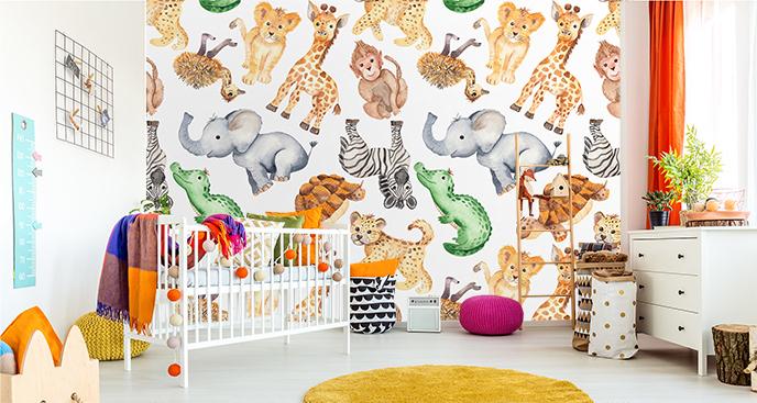 Tapeta zwierzęta do pokoju dziecka