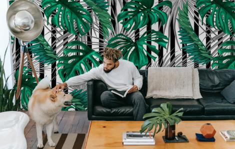 Tropikalna fototapeta do salonu