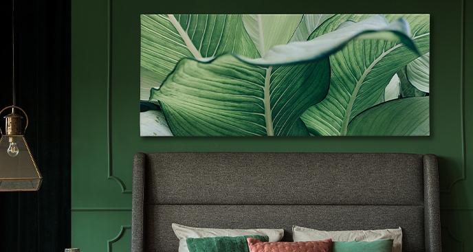 Tropikalny obraz do sypialni