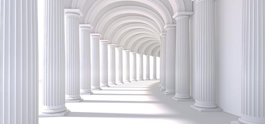 Tunel z kolumnami