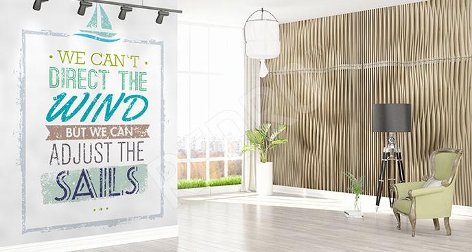 Typograficzna naklejka  do salonu