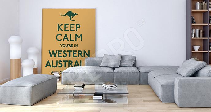 Typograficzny plakat Australia