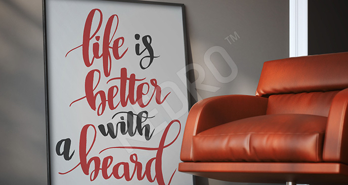 Typograficzny plakat dla mężczyzn