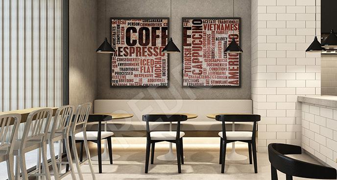 Typograficzny plakat do kawiarni