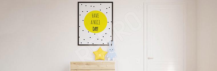 Typograficzny plakat do pokoju dziecka