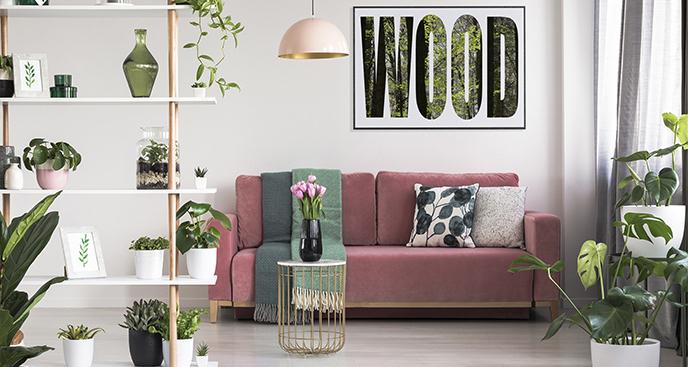 Typograficzny plakat las